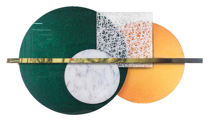 客厅立体装置壁画沙发背景墙创意组合装饰画大气晶瓷简约客厅挂画