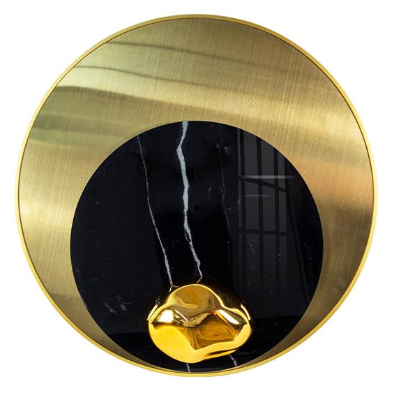 轻奢装饰画金属质感亚克力画创意造型客厅挂画酒店大堂画圆形设计